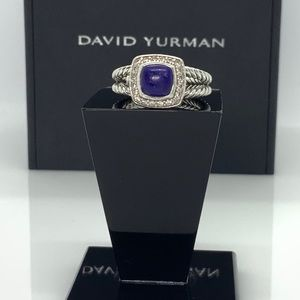 David Yurman Petite Albion ring w/Lapis Lazuli 7